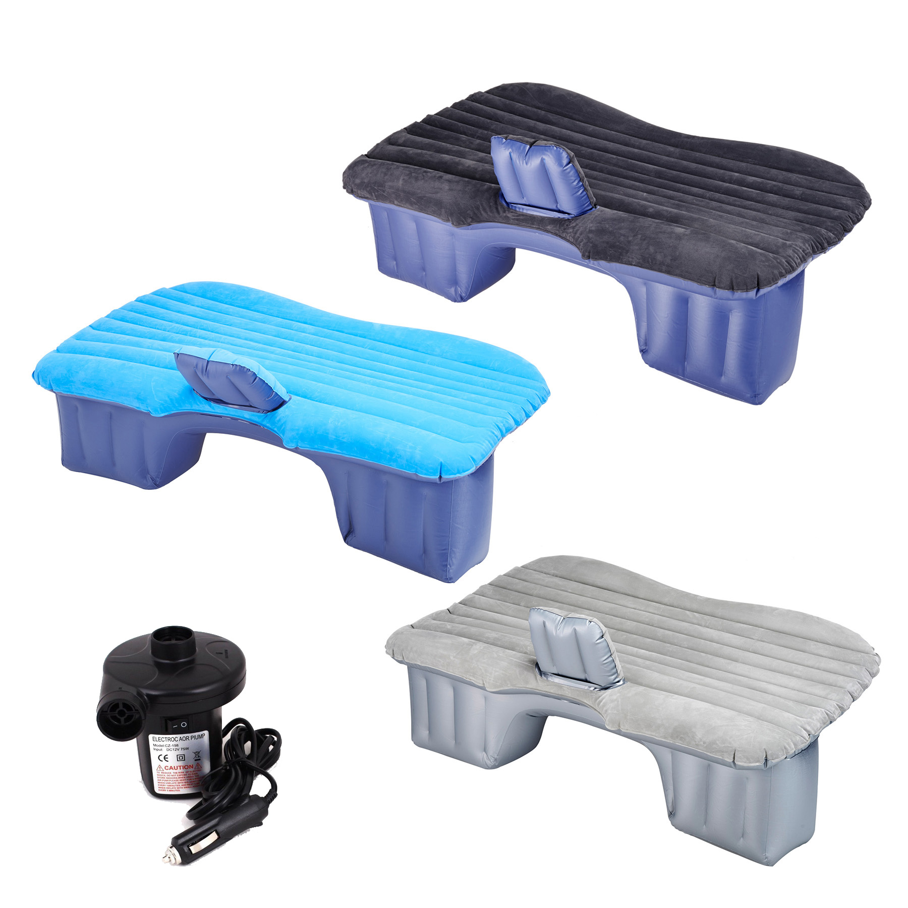 Backseat Inflatable Bed Car Air Bed Inflatable Mattress Back Seat Cushion 2 Pillow 330 Lbs